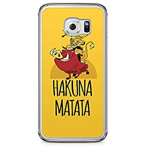 Loud Universe Hakuna Matata Lion King Samsung S6 Edge Case Timon Pumba Simon Samsung S6 Edge Cover with Transparent Edges