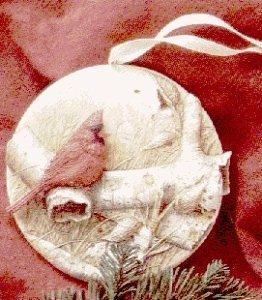 QK1077 Christmas Cardinal Showcase Ornament Nature's Sketchbook 1995 Hallmark Keepsake Ornament QK1077