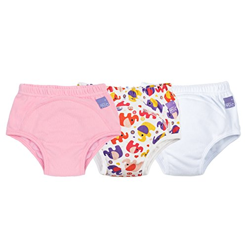 Bambino Mio, Potty Training Pants, Mixed Girl, Pink Elephant, 3+ Years (3 Count)