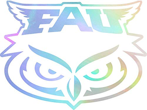 - ANGDEST FAU Florida Atlantic University (Hologram) (Set of 2) Premium Waterproof Vinyl Decal Stickers for Laptop Phone Accessory Helmet Car Window Bumper Mug Tuber Cup Door Wall Decoration