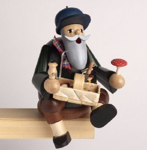 KWO Mushroom Picker German Christmas Sitting Incense Smoker Made in Germany New Man Incense Smoker