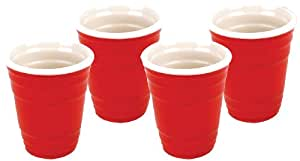 BigMouth Inc Red Cup Shots, Set of 4