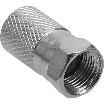 Inline F-conector, para cable coaxial exterior bata de 7,5 mm