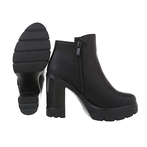 Schwarz Ital Et Cowboy Bottines Ab1012 design Femme Bottes 6qPYg