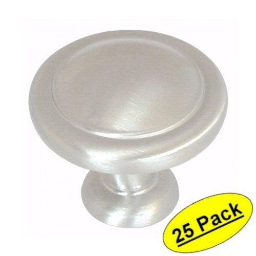 Amerock BP1387-G10 Satin Nickel Cabinet Hardware Round Ring Knob - 1-1/4