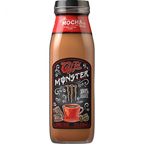 Caffe Monster, Mocha - 13.7 fl oz Glass Bottle (Pack of 8)