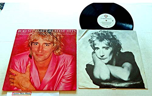 (Rod Stewart GREATEST HITS - Warner Brothers Records 1979 - USED Vinyl LP Record - 1979 Pressing HS 3373 - Do Ya Think I'm Sexy? - Maggie May - Hot Legs - Sailing - I Don't Want To Talk About It)