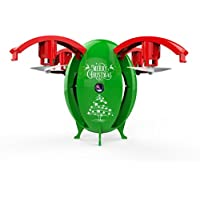 Nesee Christmas Gift 2.4G Foldable Christmas Egg Drone 0.3MP Camera WIFI FPV RC Quadcopter HD Selfie (Green)