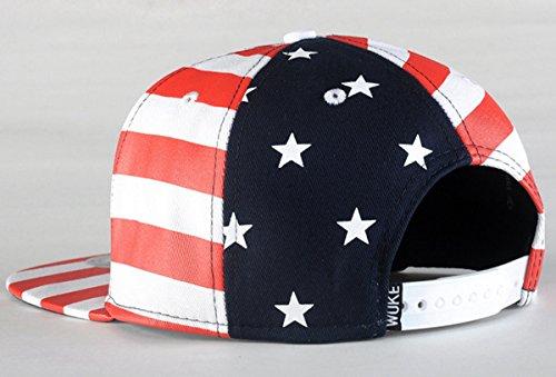 Hip Hat de Hombre Gorra Snapback Sombrero Hop Dance Unisex Aivtalk Bandera Béisbol de Estampado Plano Mujer para Wg0BnOqCw