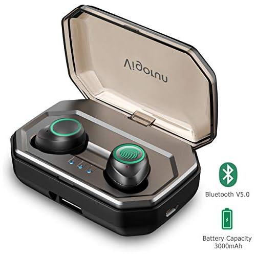 chollos oferta descuentos barato Auriculares Bluetooth Inalámbricos Vigorun Auriculares Deportivos Mini in Ear Auricular Bluetooth 5 0 3000mAh Caja de Carga IPX6 Impermeable Reducción de Ruido CVC8 0 para iOS y Android