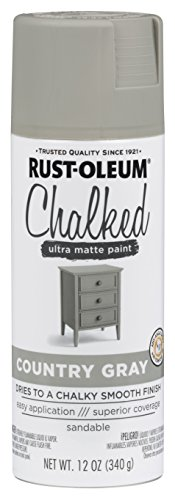 [Rust-Oleum 302593 12 oz Country Gray Chalked Paint Spray] (Country Finish)