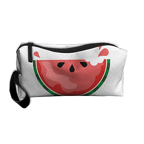 Jessent Coin Pouch Sweet Watermelon Pen Holder Clutch Wristlet Wallets Purse Portable Storage Case Cosmetic Bags Zipper -
