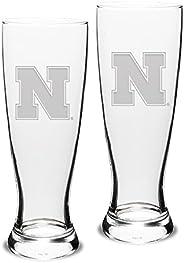 NCAA Unisex-Adult Set of 2-23 Oz University Pilsners Deep Etch Engraved