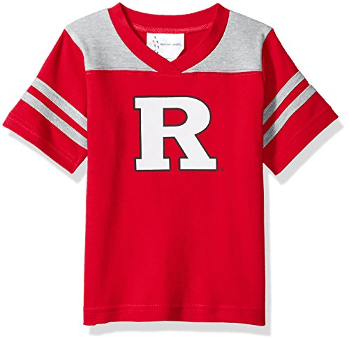 NCAA Rutgers Scarlet Knights Toddler Boys Football Shirt, Red, 4