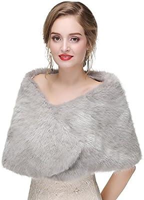 Flora Huxley Fur Shawl Faux Fur Wraps Stole And Fur Shrug Cape
