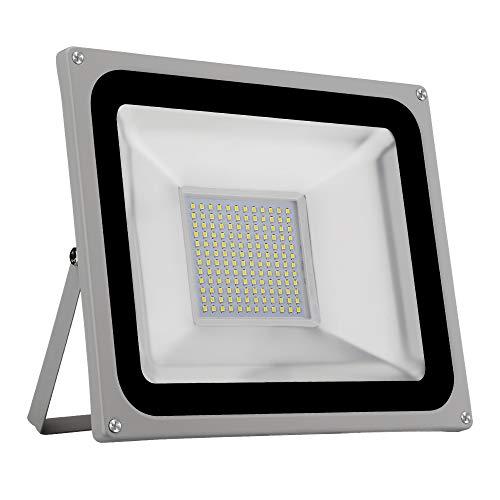 LED Flood Light CHUNNUAN, 100W ,10000LUMEN 6000-6500K (Cold White ), IP65 Waterproof ,floodlight, CE and ROHS Certified Outdoor Security Lights Garden Landscape Super Bright 110V