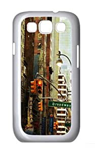 New York By Day PC Case Cover for Samsung Galaxy S3 and Samsung Galaxy I9300 White
