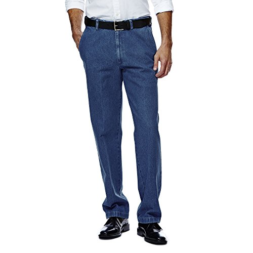 Buy mens denim pleated jeans