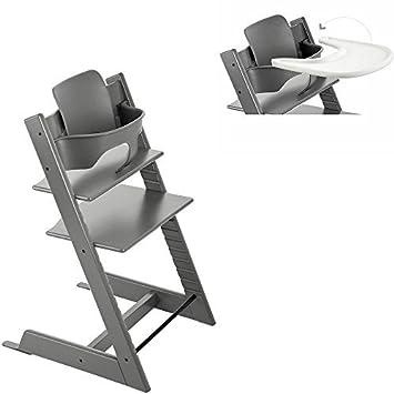 Beau Stokke   Tripp Trapp   High Chair, Baby Set U0026 Tray   Storm Grey By