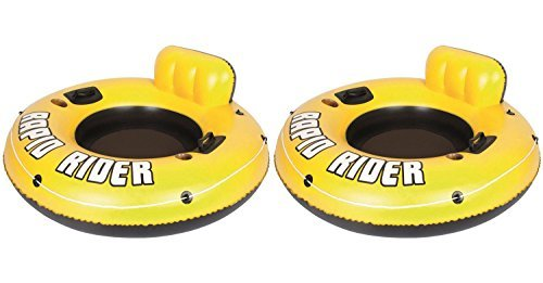 Bestway Rapid Rider I 53'' Inflatable Floating Pool Raft Tube (2-Pack)