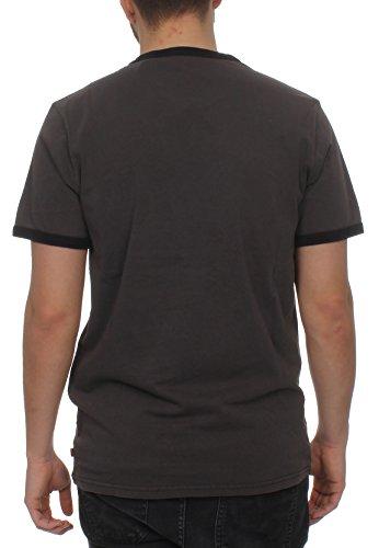 Unbekannt Levis Herren T-Shirt Ringer Tee 39980-0003 Dunkelgrau