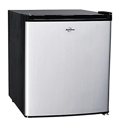 Koolatron KCR40B AC/DC Hybrid Heat Pipe Refrigerator, 1.7 cu. ft., Silver