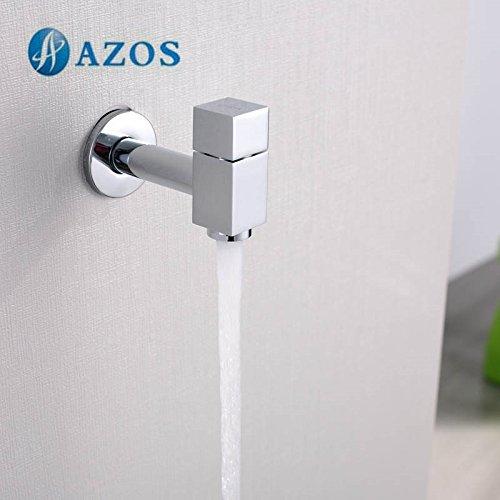 AZOS Utility Mop bibcock singolo freddo per montaggio a parete, cromato rubinetto da giardino per lavabo rubinetto pjtb011 AZOS Ltd