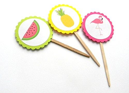 Assortment of Summer Cupcake Picks - Set of 12