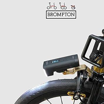 Trigo Bicicleta Faro Delantero Soporte para Brompton Cateye GOPRO Cámara Acción Soporte Oro: Amazon.es: Deportes y aire libre