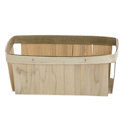 Split Basket 2 qt Rectangular Natural Wood - 5 1/2 L x 9 3/4 W x 3 1/2 H by TEXAS BASKET COMPANY