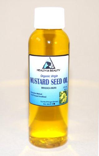 Moutarde huile non raffinée Carrier Organic pure pressée à froid 2 oz