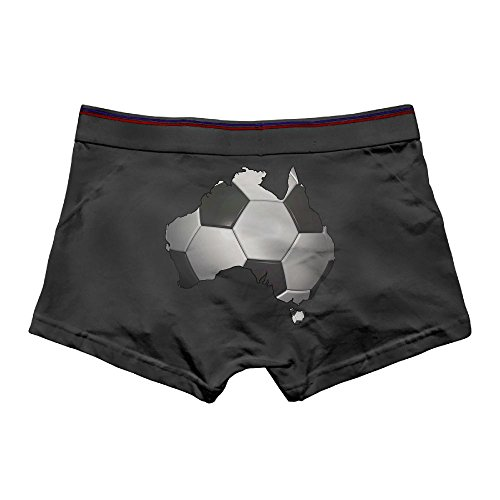 Dance Costumes For Kids In Australia (THIS STORE Men's Brief Boxer Briefs Low-Waisted Underpants Cotton Underwear Football Soccer In Australia Front Printed Knickers)