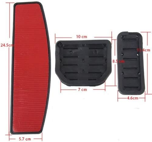 WANWU No Drill Fuel Brake Pedal Pad Cover Land Range Rover Sport LR3 LR4 Discovery 3 4