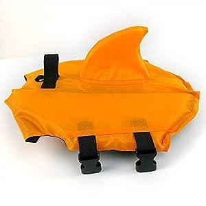 Pet Swimsuit Shark Fin Dog Swimsuit Professional Dog Life Jacket Dogs of Dog Clothing Orange XS Click on image for further info.