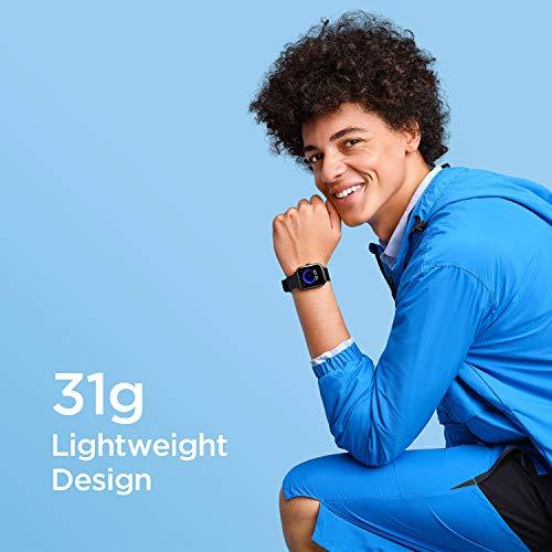 """Amazfit Bip U Smartwatch Fitness Reloj Inteligente 60+ Modos Deportivos 1.43"""" Pantalla táctil a Color Grande 5 ATM Oxígeno en Sangre SpO2Frecuencia Cardíaca IOS y Android-Negro"""