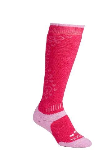 Bridgedale Girl's All Mountain Toddler Socks, Raspberry Pink, XX- Small