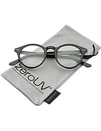 – Retro Keyhole Puente de la nariz Claro lente Ronda de P3 gafas 46 mm