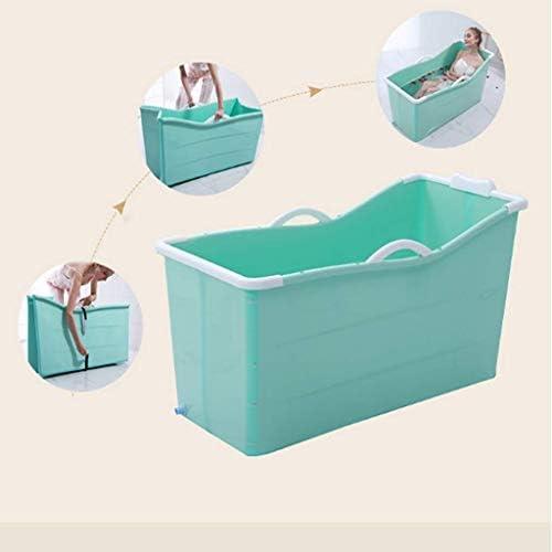折りたたみ式浴槽 子供の携帯用折りたたみ浴槽プール大人用の独立型コーナーバスタブ風呂バスタブ/長めのスパ高さ、カバー付きの長い絶縁時間 WXL (色 : Green, サイズ : 107*43*63cm) (Green)