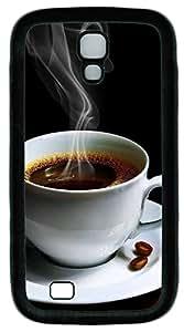Samsung S4 Case Coffee Cup TPU Custom Samsung S4 Case Cover Black