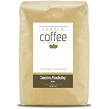 Teasia Coffee, Sumatra Mandheling, Single Origin, Green Unroasted Whole Coffee Beans, 5-Pound Bag