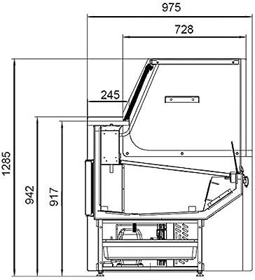 AFI Collin Lucy - Vitrina refrigerada horizontal de exposición ...
