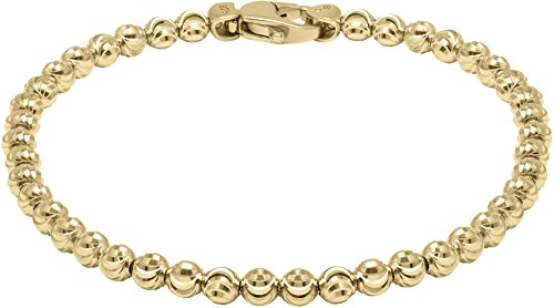 Officina Bernardi - Moon Collection - Bracelet (4 Color Choice) - Italian 925 Sterling Silver (yellow-gold-flashed-silver, 8 Inches) by Officina Bernardi