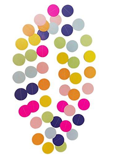 Fonder-Mols-Circle-Dots-Paper-Party-Garland-Backdrop-Pack-of-4-10-Feet-Per-Garland-Total-40-Feet-Unicorn-Pastel-Rainbow