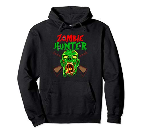 Zombie Hunter Hoodie Halloween Funny Zombies Gift - Zombies Funny Long Sleeve
