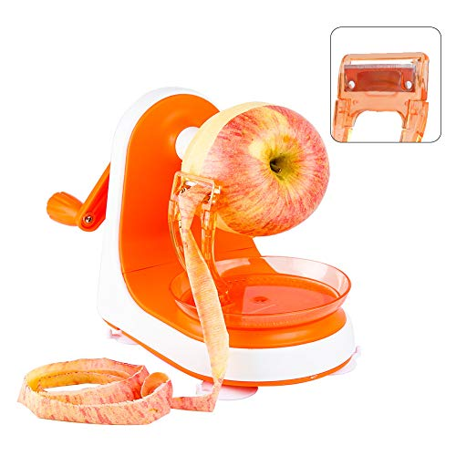 Ourokhome Rapid Pear Appler Peeler- Peeling a Fruit in Seconds (Orange)