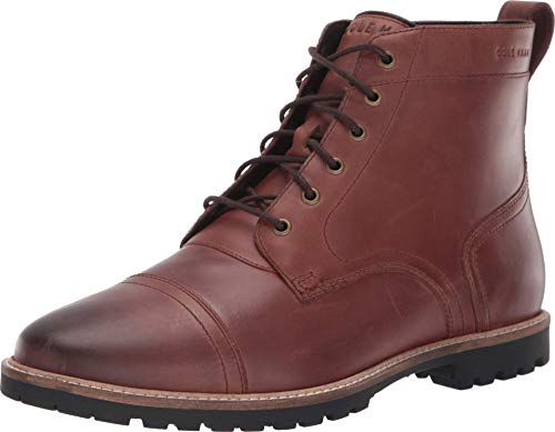 Cole Haan Men's Nathan Cap Boot:Chestnut Fashion Boot, Dark Brown, 9 M US (Chukka Boots Cole Haan)