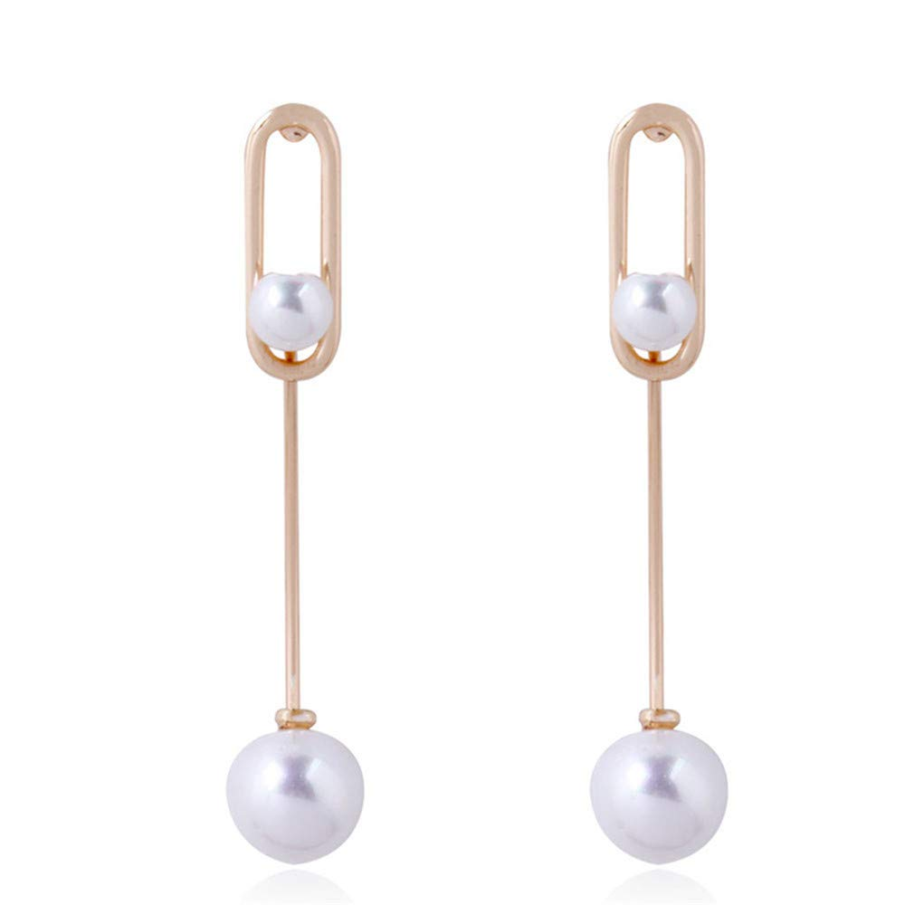 Pearl Stud Earrings Female Cute Korean Sweet Personality Simple Atmosphere Long Super Fairy Short Hair Pearl