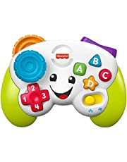 Fisher-Price Laugh & Learn Game & Learn Controller, Musical Toy with Lights and Learning Content for Baby and Toddler Ages 6-36 Months - English Edition