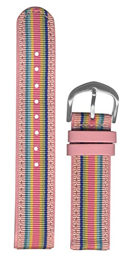 tch Strap 18mm - Replacement Watch Band - Preppy & Chic Fashionable Look (Ribbon Band Fashion Watch)