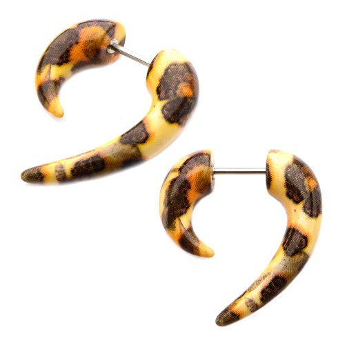 leopard print fake plugs - 9
